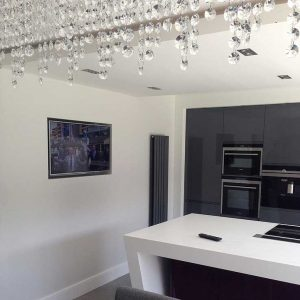 TV installtion in kitchen